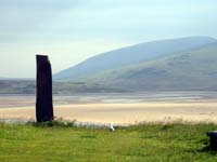 Standing Stone and beach